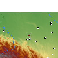 Nearby Forecast Locations - San Juan de Yapacaní - Map