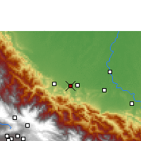 Nearby Forecast Locations - Shinahota - Map