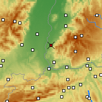 Nearby Forecast Locations - Müllheim - Map