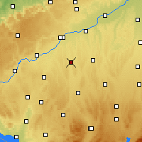 Nearby Forecast Locations - Illertissen - Map