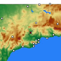 Nearby Forecast Locations - Álora - Map