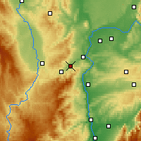 Nearby Forecast Locations - Rive-de-Gier - Map