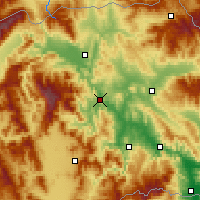 Nearby Forecast Locations - Veles - Map