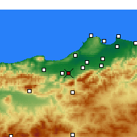 Nearby Forecast Locations - Mouzaïa - Map