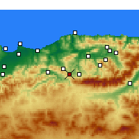 Nearby Forecast Locations - Draâ El Mizan - Map