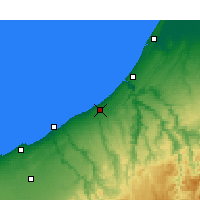 Nearby Forecast Locations - Skhirat - Map
