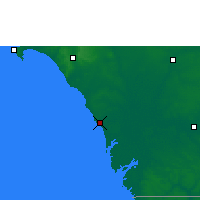 Nearby Forecast Locations - Joal-Fadiouth - Map