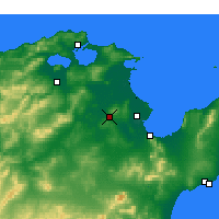 Nearby Forecast Locations - Oued Ellil - Map