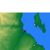 Nearby Forecast Locations - Bagamoyo - Map