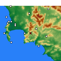 Nearby Forecast Locations - Grabouw - Map
