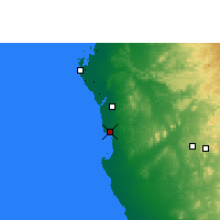 Nearby Forecast Locations - Jeddah - Map