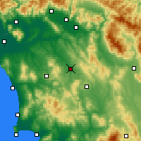 Nearby Forecast Locations - Poggibonsi - Map