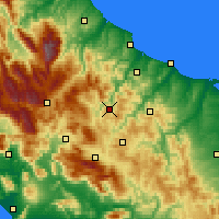 Nearby Forecast Locations - Trivento - Map