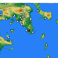 Nearby Forecast Locations - Anavyssos - Map