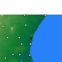 Nearby Forecast Locations - Pondicherry - Map