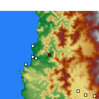 Nearby Forecast Locations - Quillota - Map