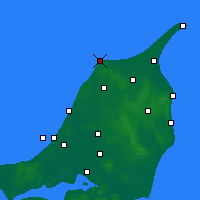 Nearby Forecast Locations - Hirtshals - Map
