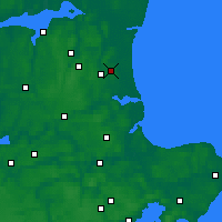 Nearby Forecast Locations - Bælum - Map