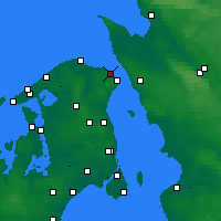Nearby Forecast Locations - Hellebæk - Map