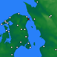 Nearby Forecast Locations - Helsingør - Map
