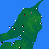 Nearby Forecast Locations - Hjørring - Map