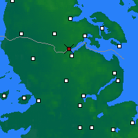 Nearby Forecast Locations - Kruså - Map