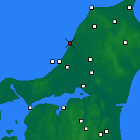 Nearby Forecast Locations - Løkken - Map