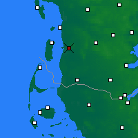 Nearby Forecast Locations - Skærbæk - Map