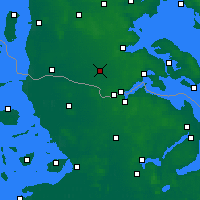 Nearby Forecast Locations - Tinglev Sogn - Map