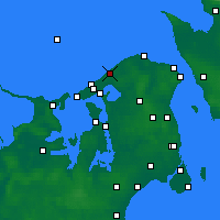 Nearby Forecast Locations - Tisvilde - Map