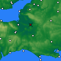 Nearby Forecast Locations - Glastonbury - Map