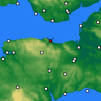 Nearby Forecast Locations - Minehead - Map