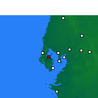 Nearby Forecast Locations - St Petersb.IAP - Map