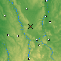 Nearby Forecast Locations - Lac de Madine - Map