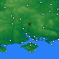 Nearby Forecast Locations - Winchester - Map