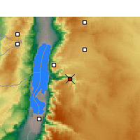 Nearby Forecast Locations - Wadi Mujib - Map