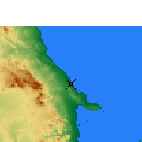 Nearby Forecast Locations - Wadi Lahami/Hamata - Map