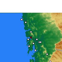 Nearby Forecast Locations - Navghar - Map