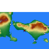 Nearby Forecast Locations - Pekutatan - Map