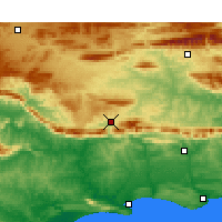 Nearby Forecast Locations - Barrydale - Map