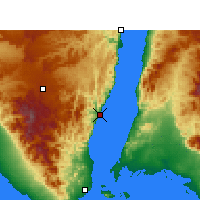 Nearby Forecast Locations - Dahab - Map