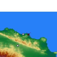 Nearby Forecast Locations - Cabarete - Map