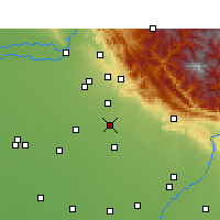 Nearby Forecast Locations - Chandigarh - Map