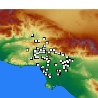 Nearby Forecast Locations - Burbank - Map