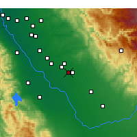 Nearby Forecast Locations - Merced - Map