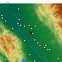 Nearby Forecast Locations - Modesto - Map
