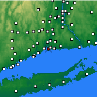 Nearby Forecast Locations - New Haven - Map
