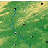 Nearby Forecast Locations - Fort Indiantown Gap - Map