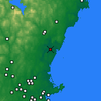Nearby Forecast Locations - Portsmout - Map