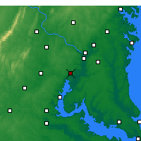 Nearby Forecast Locations - Fort Belvoir - Map